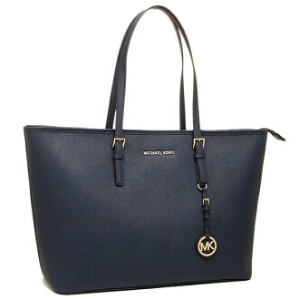 마이클 코스 가방 MICHAEL KORS 30 T5GTVT2L 406 JET SET TRAVEL MD TZ MULT FUNT TOTE 토트 백 NAVY