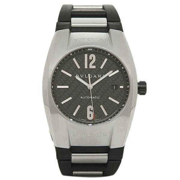 【4時間限定ポイント10倍】 ブルガリ BVLGARI 時計 腕時計 メンズ BVLGARI ブルガリ エルゴン オートマチック ラバー ブラック&シルバー/カーボンブラック メンズ EG40BSVD ウォッチ 腕時計 シリアル有