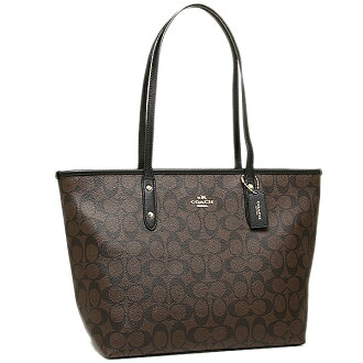 Coach bags outlet COACH F36876 IMAA8 signature City ZIP Tote brown / black