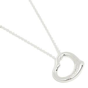 【返品OK】ティファニー ネックレス アクセサリー TIFFANY&Co. 26848598 オープンハート スモール 5Pダイヤモンド 16IN ペンダント シルバー