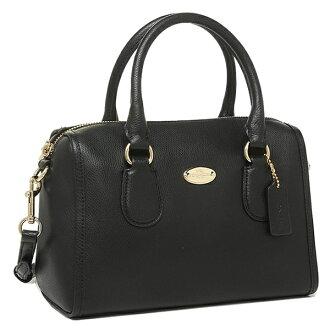 Coach bags outlet COACH F33329 IMBLK luxury cross-grain leather mini Bennett 2-WAY bag black