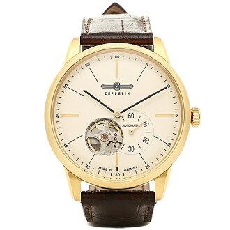 제페린 시계 맨즈 ZEPPELIN 73621 FLAT LINE 플랫 라인7362-1자동감김 손목시계 워치 골드/브라운