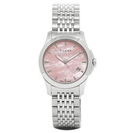 【6時間限定ポイント5倍】【返品OK】グッチ 時計 レディース GUCCI YA126532 G-タイムレス 腕時計 ウォッチ シルバー/ピンク