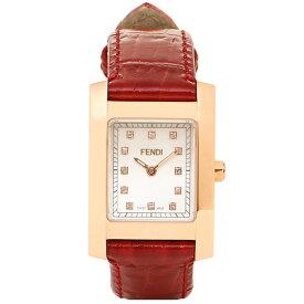 【4時間限定ポイント10倍】【返品保証】フェンディ 時計 レディース FENDI F704247D CLASSICO クラシコ 腕時計 ウォッチ ホワイトパール/レッド/ゴールド