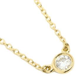 【返品OK】ティファニー ネックレス TIFFANY&Co. 24834239 18K ダイヤモンド バイザヤード 0.12ct 16IN 18YG ペンダント イエローゴールド