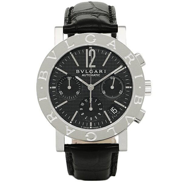 ブルガリ 時計 メンズ BVLGARI BB38BSLDCH 101375 ブルガリブルガリ 自動巻き 腕時計 ウォッチ ブラック/シルバー