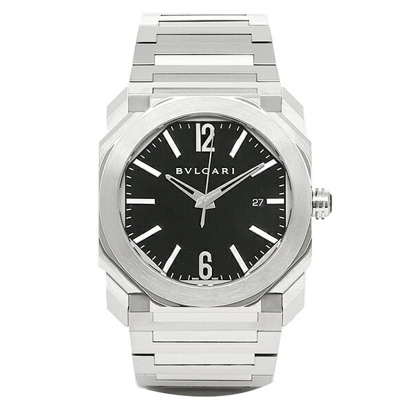 【4時間限定ポイント10倍】ブルガリ 時計 メンズ BVLGARI BGO41BSSD 102031 オクト 自動巻き 腕時計 ウォッチ シルバー/ブラック