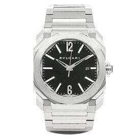 【ポイント10倍 6/20 20時〜24時】ブルガリ 時計 メンズ BVLGARI BGO41BSSD 102031 オクト 自動巻き 腕時計 ウォッチ シルバー/ブラック