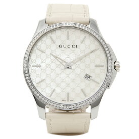 【P10倍 8/2 16時〜8/4 10時】【返品OK】グッチ 時計 メンズ GUCCI YA126306 Gタイムレス 腕時計 ウォッチ ホワイト/シルバー
