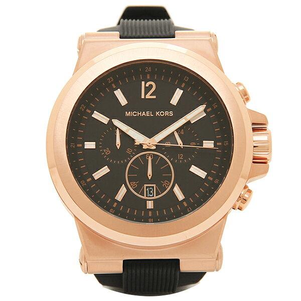 マイケルコース 腕時計 メンズ MICHAEL KORS MK8184 ブラック ピンクゴールド