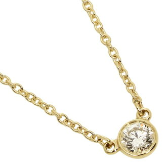 Tiffany necklace TIFFANY&Co. 10769345 18K Elsa ペレッティダイヤモンドバイザヤード 0.14ct 16in 18Y pendant gold