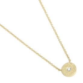 【返品OK】ティファニー ネックレス アクセサリー TIFFANY&Co. 33285981 1837 18K サークル ペンダント ダイアモンド 16in 18YG ペンダント イエローゴールド