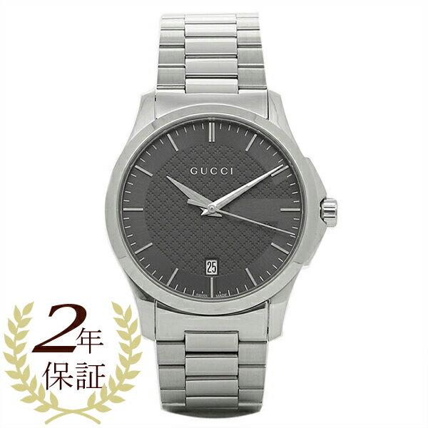 【24時間限定ポイント5倍】グッチ 時計 メンズ GUCCI YA126441 Gタイムレス 腕時計 ウォッチ シルバー/グレー