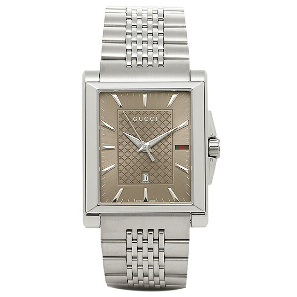 グッチ 時計 メンズ GUCCI YA138402 G-タイムレス レクタングル 腕時計 ウォッチ シルバー/ブラウン