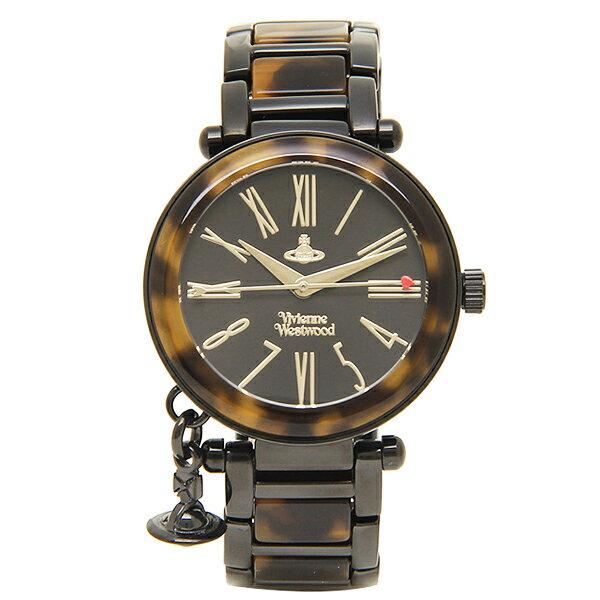 【6時間限定ポイント10倍】ヴィヴィアンウエストウッド 腕時計 VIVIENNE WESTWOOD VV006BKBR ブラック ブラウン