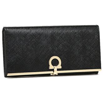 Salvatore Ferragamo wallet Salvatore Ferragamo 224633 0614666 GANCIO ICONA long wallet NERO