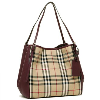 바바리 가방 BURBERRY 3994661 6097 B호스 페리 체크 HORSEFERRY CHECK SMALL CANTER 토트 백 HONEY/DEEP CLARET