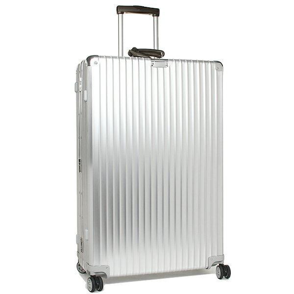 【24時間限定ポイント5倍】リモワ スーツケース レディース/メンズ RIMOWA 971.77.00.4 CLASSIC FLIGHT クラシックフライト 84.5CM 104L 10泊用 4輪 TSAロック キャリーケース SILVER