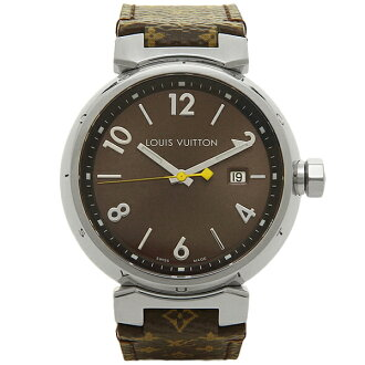 루이비통 시계 맨즈 LOUIS VUITTON Q1111A 드럼 GM손목시계 워치 브라운