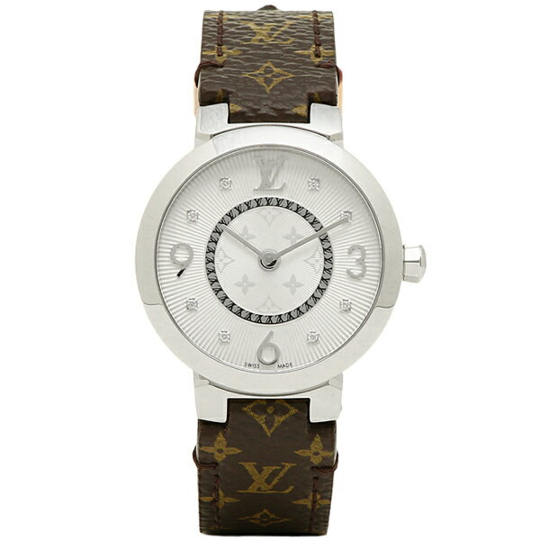 【エントリーでポイント最大19倍】ルイヴィトン 時計 LOUIS VUITTON Q12MGB タンブール モノグラム PM 腕時計 ウォッチ ホワイト/ブラウン クリスマスセール