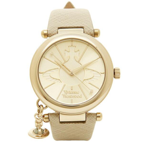 【30時間限定ポイント5倍】ヴィヴィアンウエストウッド 腕時計 VIVIENNE WESTWOOD VV006GDCM クリーム ゴールド シルバー