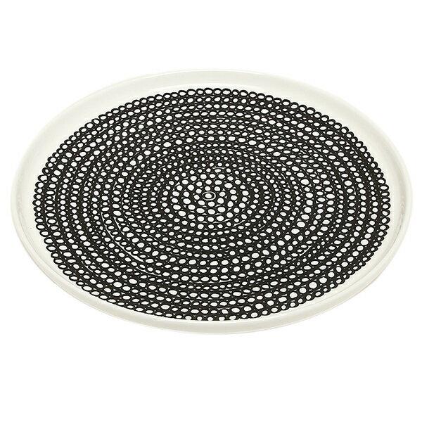 マリメッコ 食器 MARIMEKKO 063303 199 SIIRTOLAPUUTARHA プレート ホワイト/ブラック