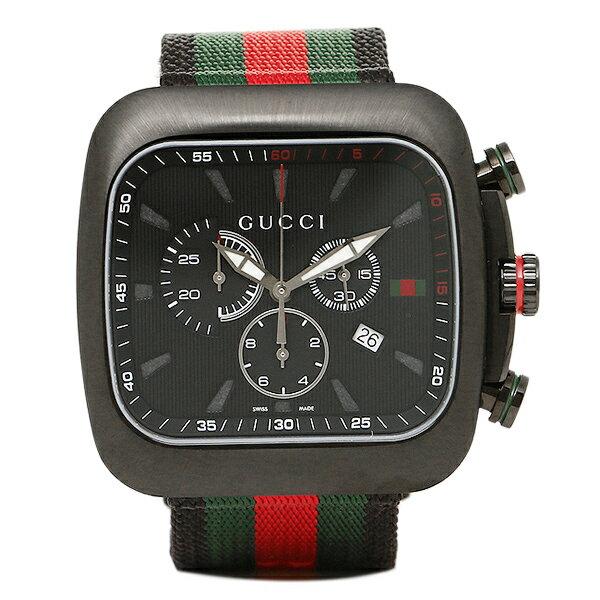 グッチ 時計 メンズ GUCCI YA131202 クーペ クロノグラフ 腕時計 ウォッチ ブラック マルチ