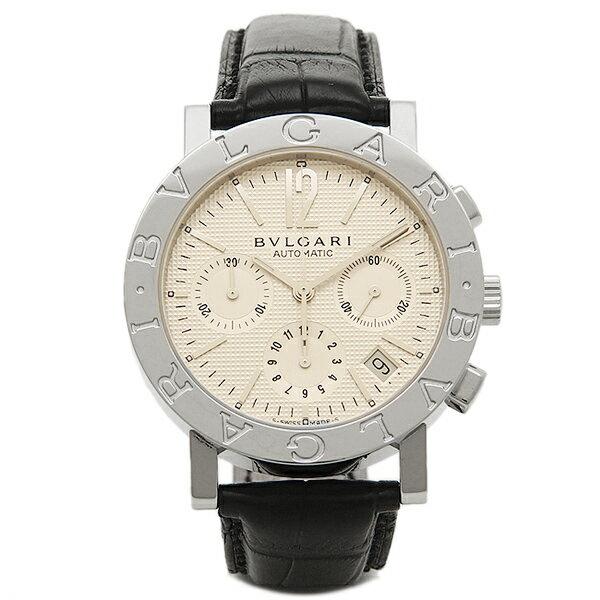 【4時間限定ポイント10倍】ブルガリ 時計 メンズ BVLGARI BB38WSLDCH ブルガリ ブルガリ クロノグラフ 腕時計 ウォッチ ホワイト/シルバー/ブラック