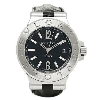 寶格麗鐘表人BVLGARI DG40BSLD diagonorabaotomachikku手錶表銀子/黑色