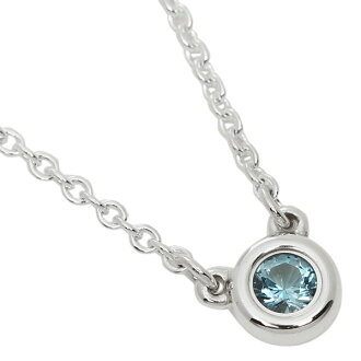Tiffany necklace silver TIFFANY&Co. 25224884 エルサペレッティカラーバイザヤードアクアマリンペンダント
