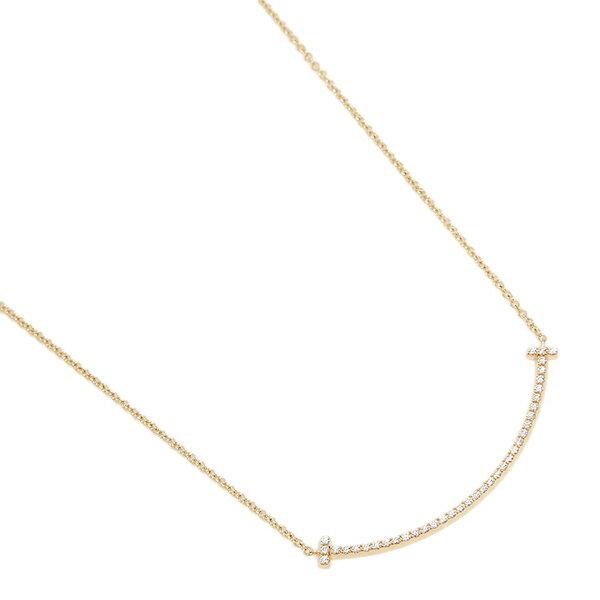 ティファニー ネックレス アクセサリー TIFFANY&Co. 34684456 ダイヤモンド T スマイル ミニ 18K ペンダント ゴールド