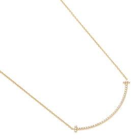 【4時間限定ポイント10倍】ティファニー ネックレス アクセサリー TIFFANY&Co. 34684456 ダイヤモンド T スマイル ミニ 18K ペンダント ゴールド