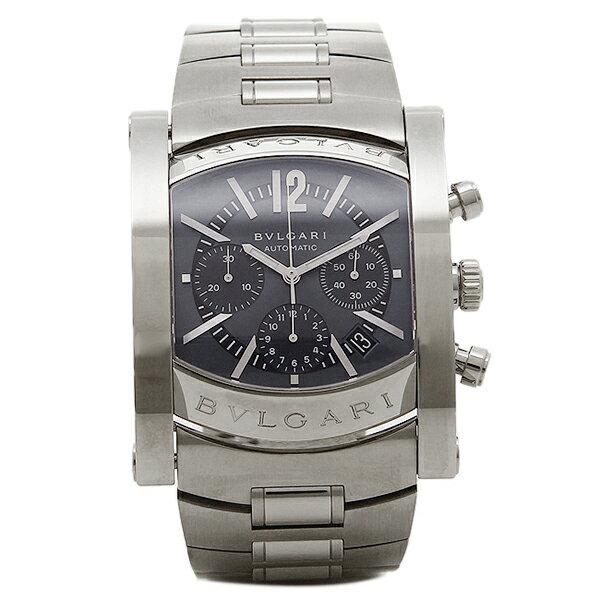 【4時間限定ポイント10倍】 ブルガリ BVLGARI 時計 レディース 腕時計 BVLGARI ブルガリ アショーマ オートマチック クロノグラフ ネイビー ラージ AA48C14SSDCH ウォッチ 腕時計 シリアル有