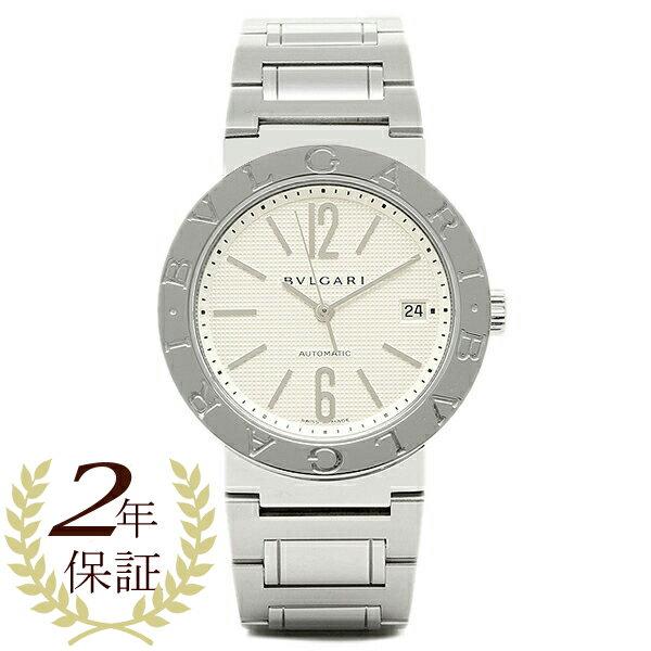 【4時間限定ポイント10倍】ブルガリ BVLGARI 時計 腕時計 メンズ BVLGARI ブルガリブルガリ SSブレス ホワイト メンズ AUTO BB38WSSD/N ウォッチ 腕時計 シリアル有
