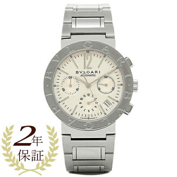 【4時間限定ポイント10倍】ブルガリ BVLGARI 時計 腕時計 メンズ BVLGARI ブルガリブルガリ オートマチック クロノグラフ ホワイト メンズ BB38WSSDCH ウォッチ 腕時計 シリアル有