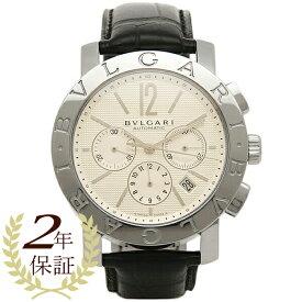 43d1e86e49 ブルガリ BVLGARI 時計 腕時計 メンズ BVLGARI ブルガリブルガリ オートマチック クロノグラフ アリゲーターレザー ブラック/ホワイト