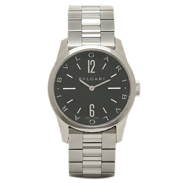 【4時間限定ポイント10倍】ブルガリ BVLGARI 時計 腕時計 メンズ ブルガリ 時計 BVLGARI 腕時計 メンズ ソロテンポ ブラック ST37BSS ウォッチ シリアル有