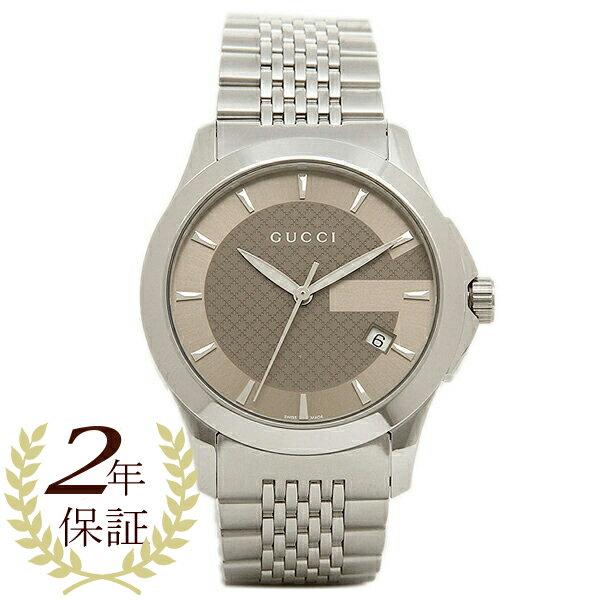 【24時間限定ポイント5倍】グッチ GUCCI 時計 レディース 腕時計 グッチ 時計 GUCCI 腕時計 YA126406 シルバーブラウン