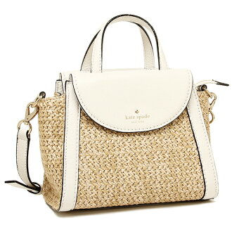 凯特黑桃包女士KATE SPADE PXRU6490 266 COBBLE HILL STRAW SMALL ADRIEN挎包NATURAL/CEMENT