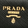 Prada key case PRADA 1PG222 ZTM F0002 SAFFIANO FIOCCO key ring NERO