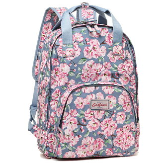 kyasukiddosombaggu CATH KIDSTON女士557672 MULTI POCKET BACKPACK BLOSSOM BUNCH帆布背包·背包BLUE