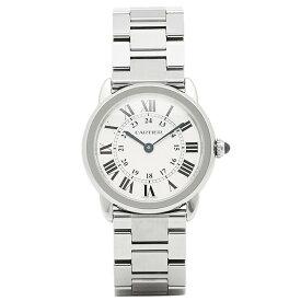 【4時間限定ポイント10倍】カルティエ 時計 レディース CARTIER W6701004 ロンドソロ SS腕時計ウォッチ シルバー/ホワイト