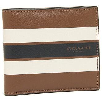 教练人对开钱包奥特莱斯COACH F75394 CWH棕色多重