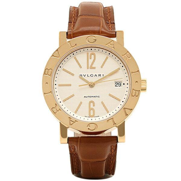ブルガリ 時計 レディース BVLGARI BB38WGLDAUTO ブルガリブルガリ 自動巻き ユニセックス腕時計 ウォッチ ブラウン/ホワイト/ゴールド