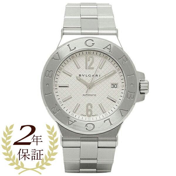 【4時間限定ポイント10倍】ブルガリ 時計 BVLGARI DG40C6SSD ディアゴノ 自動巻き メンズ腕時計 ウォッチ シルバー/ホワイト