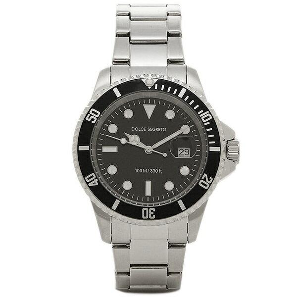 ドルチェセグレート 時計 DOLCE SEGRETO CSB300BK コスモス クロノグラフ メンズ腕時計 ウォッチ ブラック/シルバー