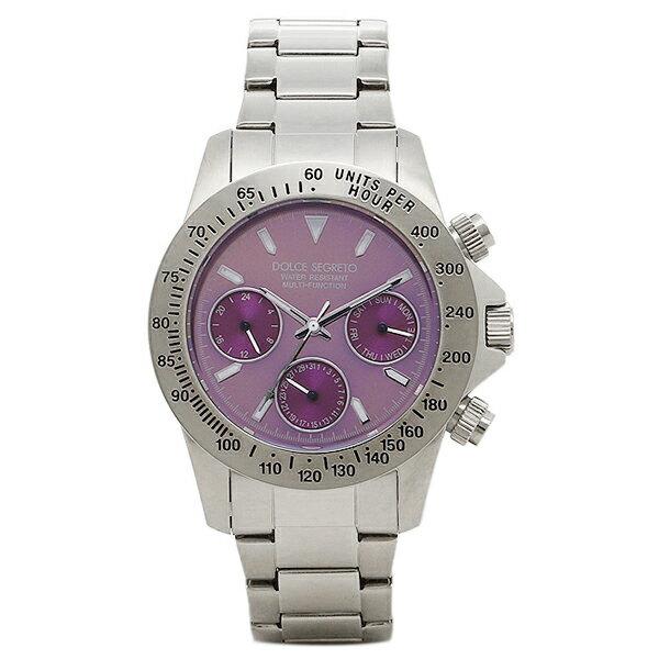 ドルチェセグレート 時計 DOLCE SEGRETO MCG100PP コスモス クロノグラフ メンズ腕時計 ウォッチ パープル/シルバー