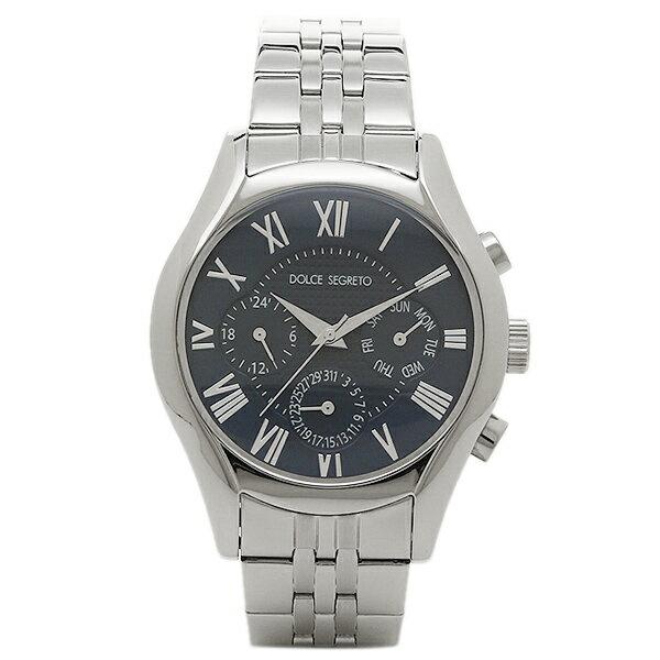 ドルチェセグレート 時計 DOLCE SEGRETO MEA100BU ドレス クロノグラフ メンズ腕時計 ウォッチ ブルー/シルバー