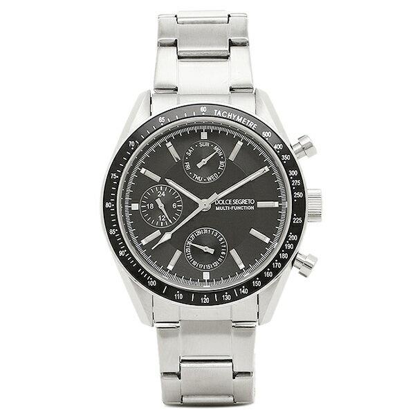 【6時間限定ポイント10倍】ドルチェセグレート 時計 DOLCE SEGRETO MSM101BK BK グランドクロノ メンズ腕時計 ウォッチ ブラック/シルバー