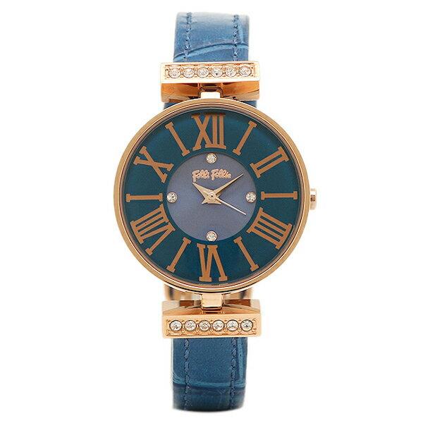 フォリフォリ 時計 FOLLI FOLLIE WF13B014SSUBL ダイナスティ DYNASTY レディース腕時計ウォッチ ブルー/ピンクゴールド